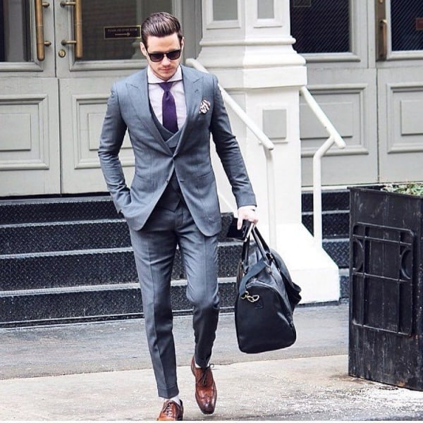 60 Best Grey Suit With Brown Shoes
