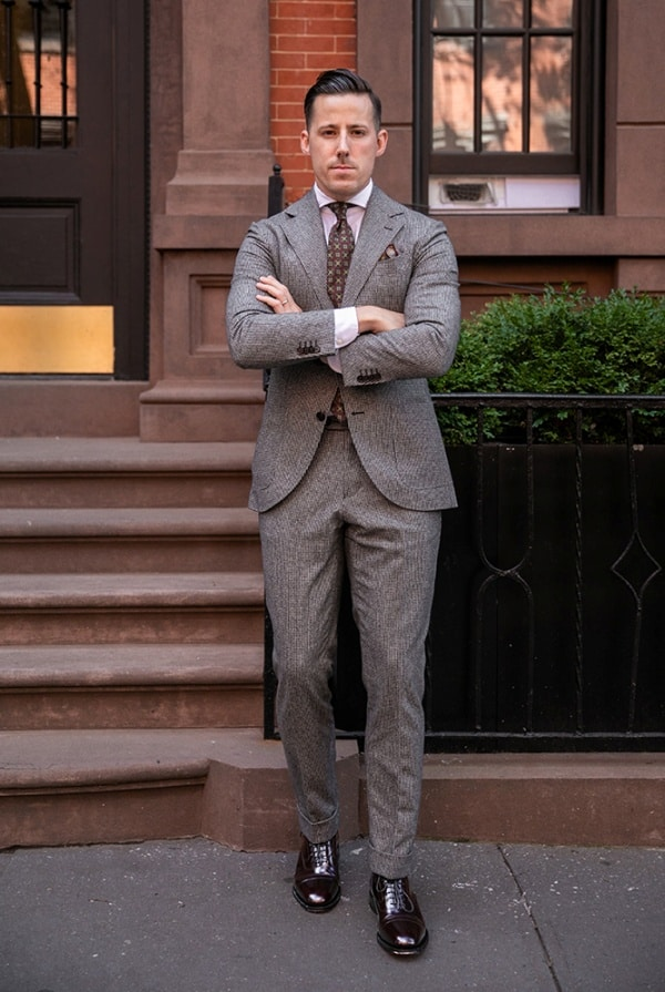 Best Grey Suit With Brown Shoes Outfit Ideas For Men