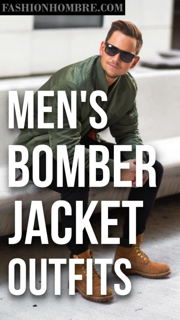Men's Bomber Jacket Outfits