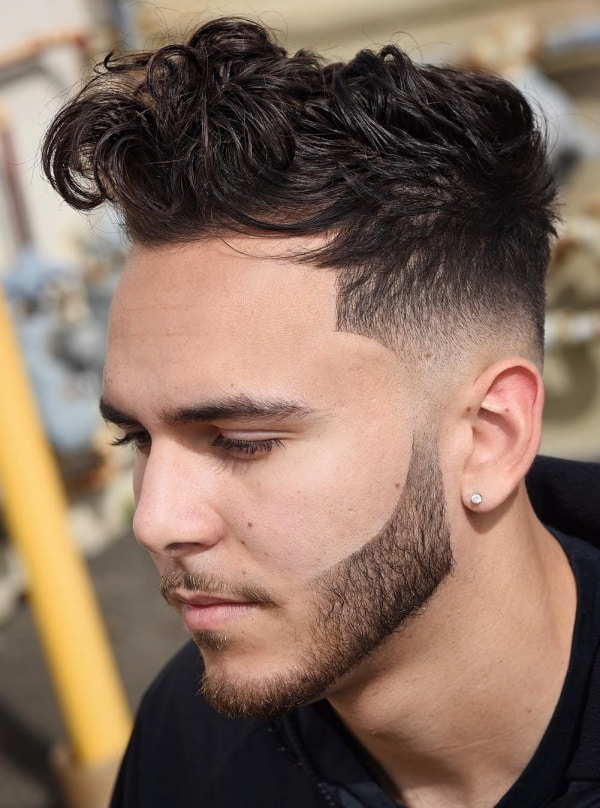 Stylish Curly Fade Hairstyles and Haircut For Men