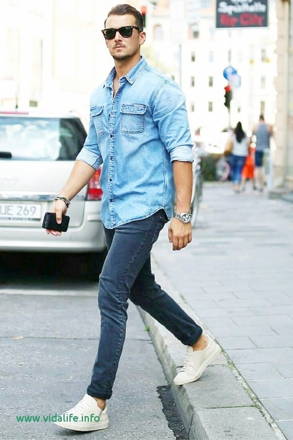 Super Stylish Denim Shirt Outfits To Try