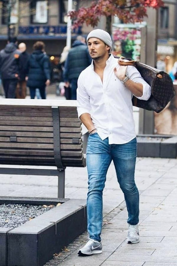 30+ Blue Jeans And White Shirt Outfits Ideas For Men ...