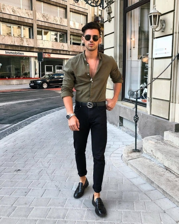 Stylish Black Jeans Outfits For Men