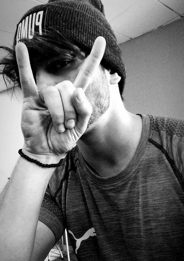 Poses guy selfie Foto Selfie