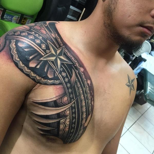 Cool Star Tattoos For Men