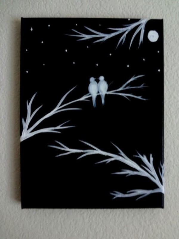 70 Easy Canvas Painting Ideas For