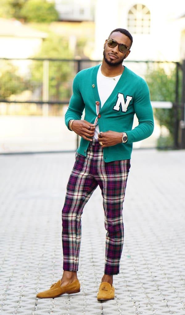 men's plaid pants outfit ideas
