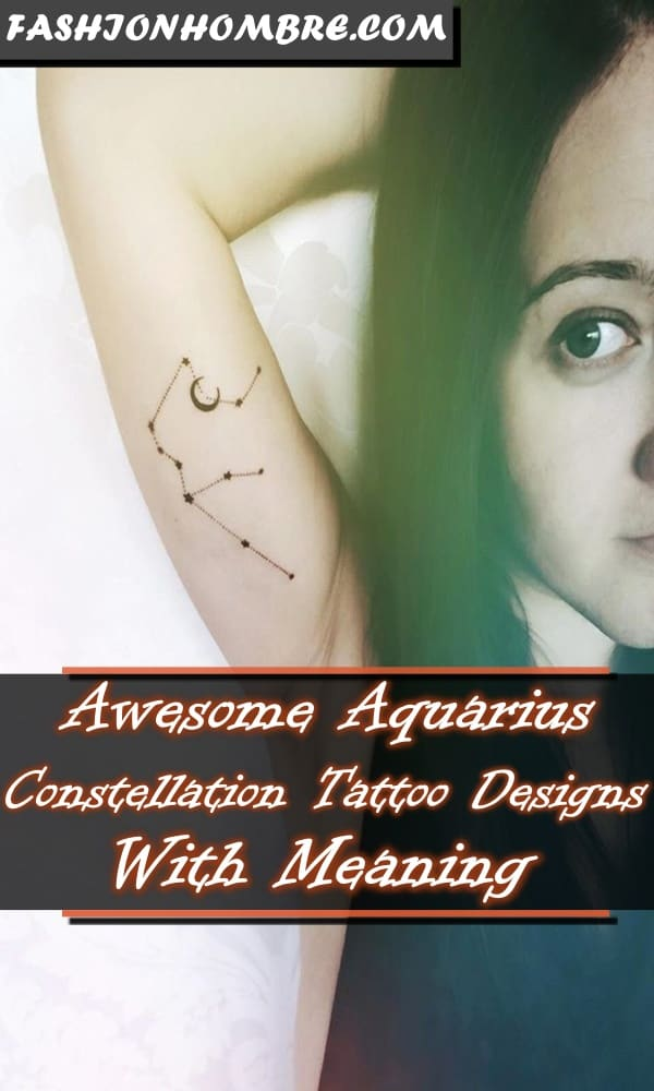 Awesome Aquarius Constellation Tattoo Designs With Meaning
