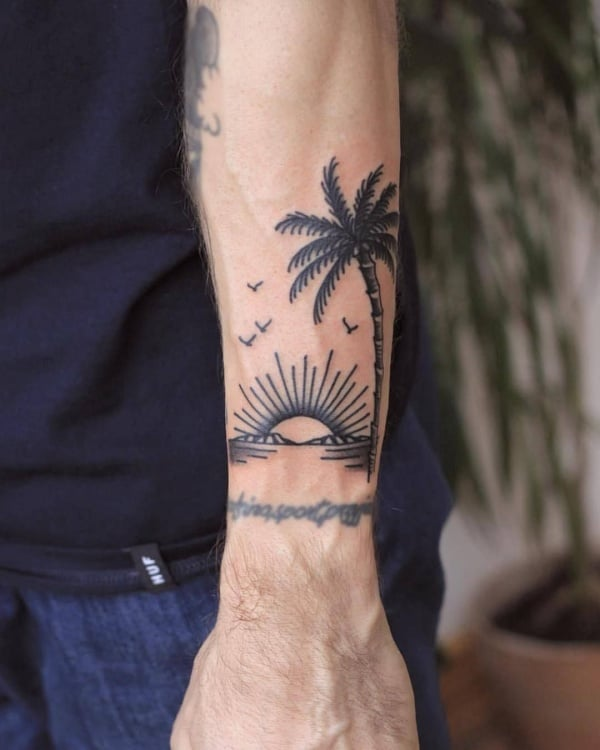 Beautiful Palm Tree Tattoo Designs For Tree Lovers