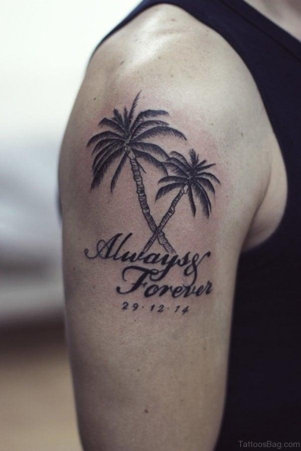 Beautiful Palm Tree Tattoo Designs For Tree Lovers