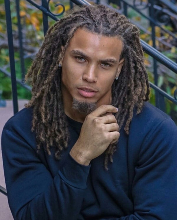 50 Cool Hairstyles For Black Men With Long Hair , Fashion Hombre
