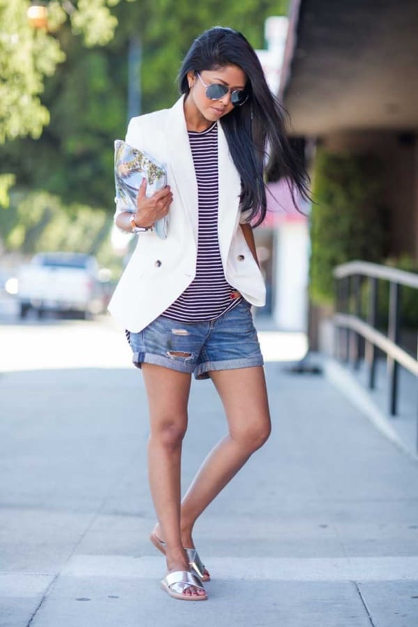 Stylish White Blazer Outfit Ideas For Work