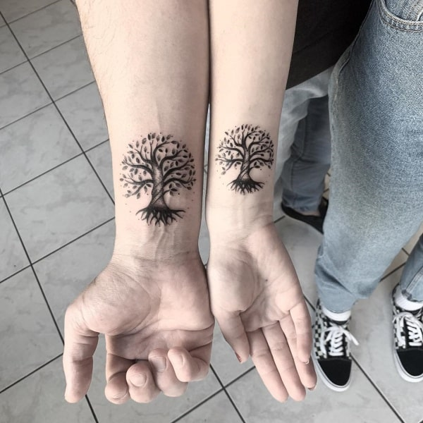 Awesome Father and Daughter Matching Tattoos