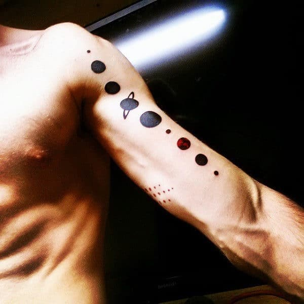 Amazing Solar System Tattoo Designs And Ideas With Meaning