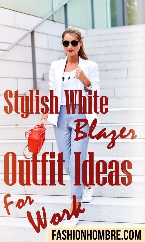 White Blazer Outfit Ideas For Work