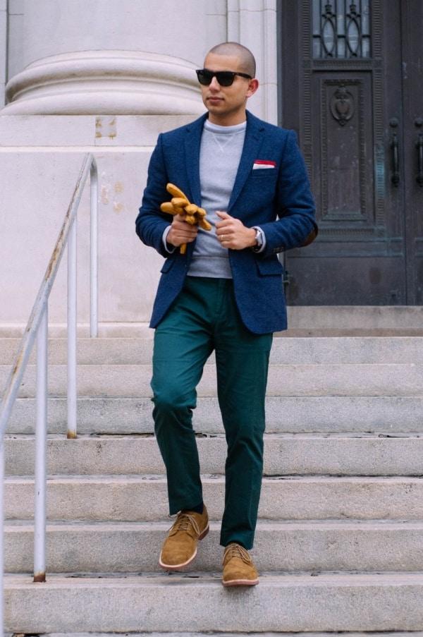 men's blue blazer outfit ideas