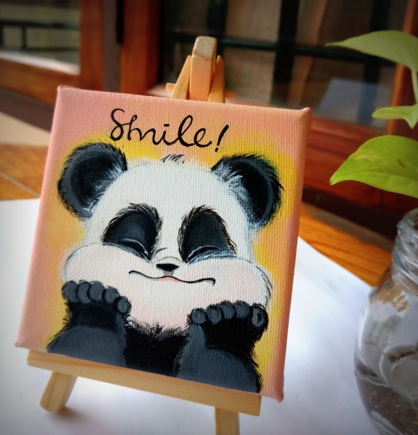 mini canvas painting ideas