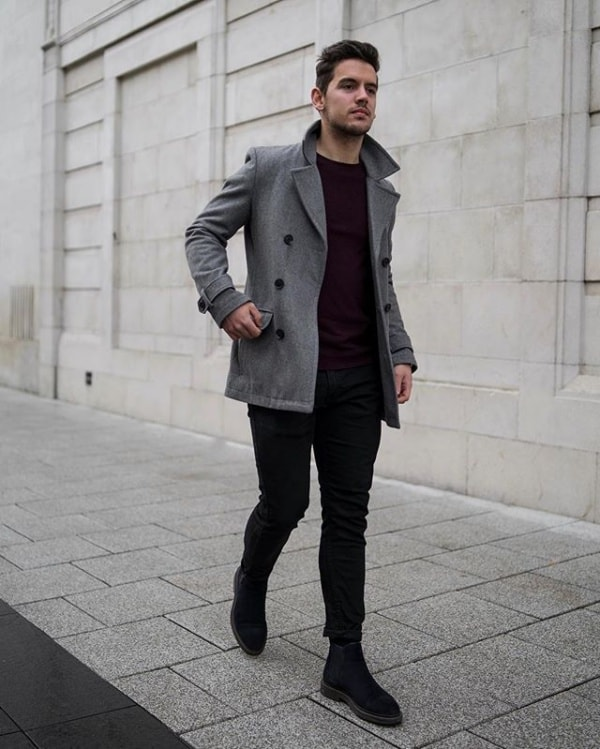 what to wear with black jeans men